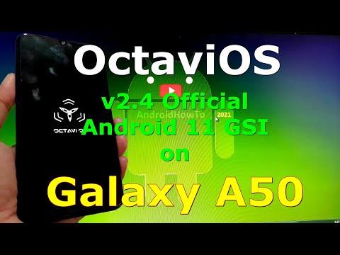 OctaviOS v2.4 Official on Samsung Galaxy A50 - Android 11 GSI