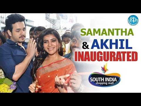 Samantha & Akhil Inaugurated South India Shopping Mall @ Somajiguda Circle