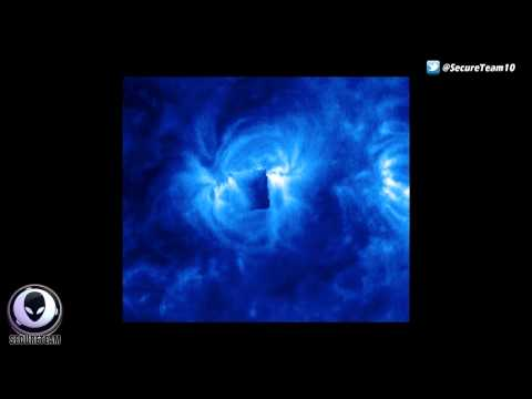 GIANT WINGED ALIEN SHIP IN NASA SOHO PIC! BEST UFO SIGHTINGS MAY 2015