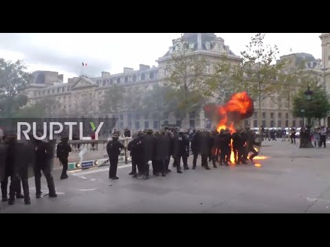 France: Molotov cocktails fly as fiery protests rock Paris