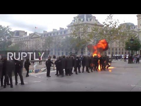 France: Molotov cocktails
