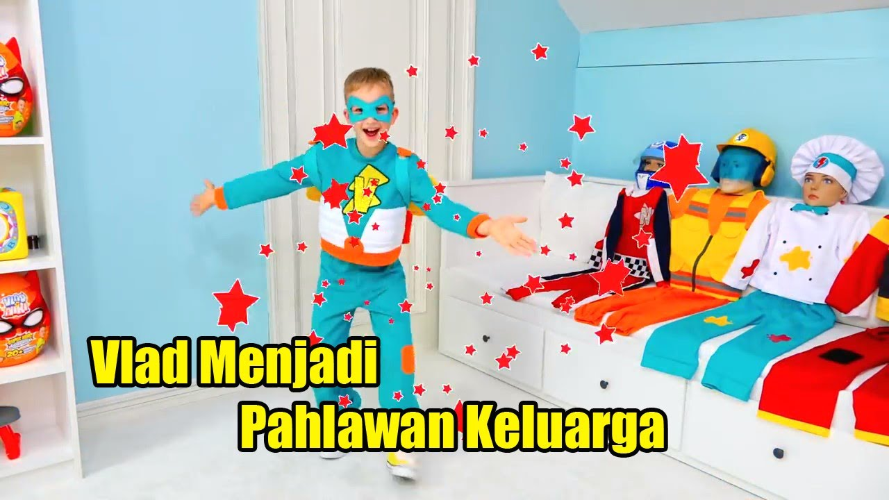 Download Vlad turns into a superhero and helps his little brother Vlad Menjadi Pahlawan Super