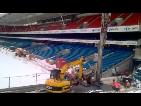 Drilling at Ullevaal Stadion February 2013