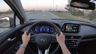 2019 Hyundai Santa Fe Ultimate 2.4 AWD - POV Sunset Drive (Binaural Audio)