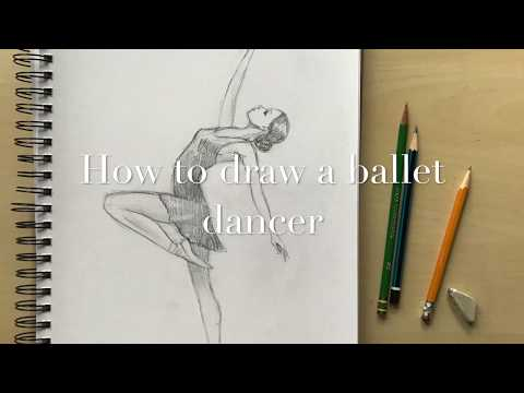 How To Draw A Ballet Dancer.Drawing Together With Natalka Barvinok. FREE Lesson #24, Series BALLET