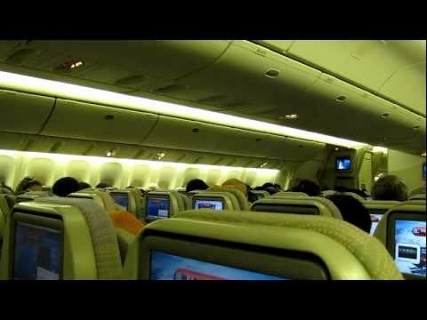 Purser welcome speech in English on Emirates flight from Buenos Aires to Rio