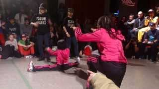 BGirl Eddie & BGirl Terra (Soul Mavericks/Dragon Assassins) vs Eri & Yuri Semi Final BOTY 2013