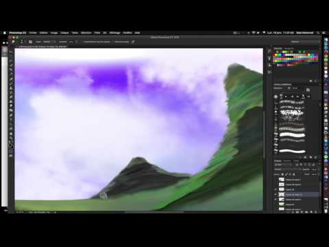 SpeedPainting -Digital Painting Landscape – デジタル描画 – アニメーション