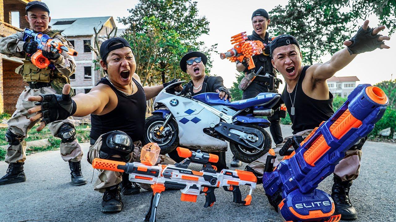 LTT Nerf War : SEAL X Warriors Nerf Guns Fight Dr Ken Criminal Group Rioting Restricted Area
