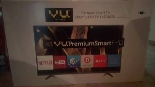 """VU premium smart FHD TV 43"""" 2018 review and unboxing"""