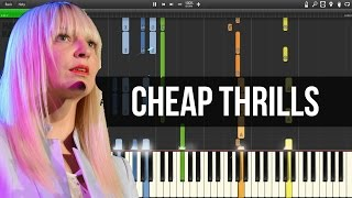 Sia Cheap Thrills PIANO TUTORIAL SHEETS.mp3