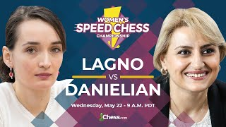 2019 Women's Speed Chess Championship: Kateryna Lagno vs. Elina Danielian