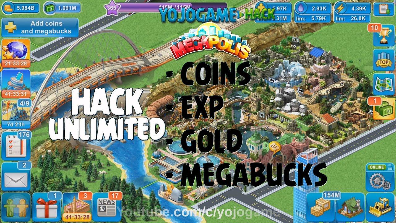 megapolis coin exp gold megabuck cheat hack online generator logo