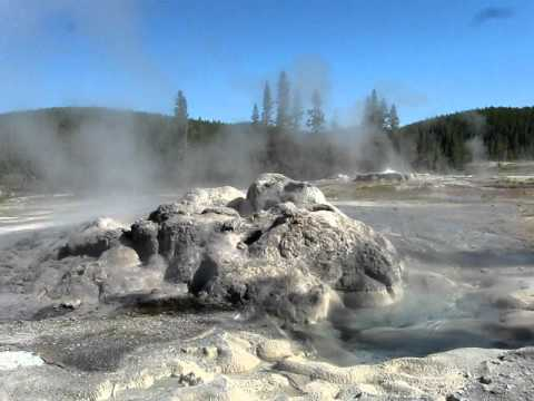 Minute Man Geyser of the Shoshone Geyser Basin Yellowstone National Park Montana