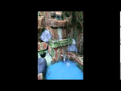taman kolam ikan koi dan air terjun minimalis - youtube