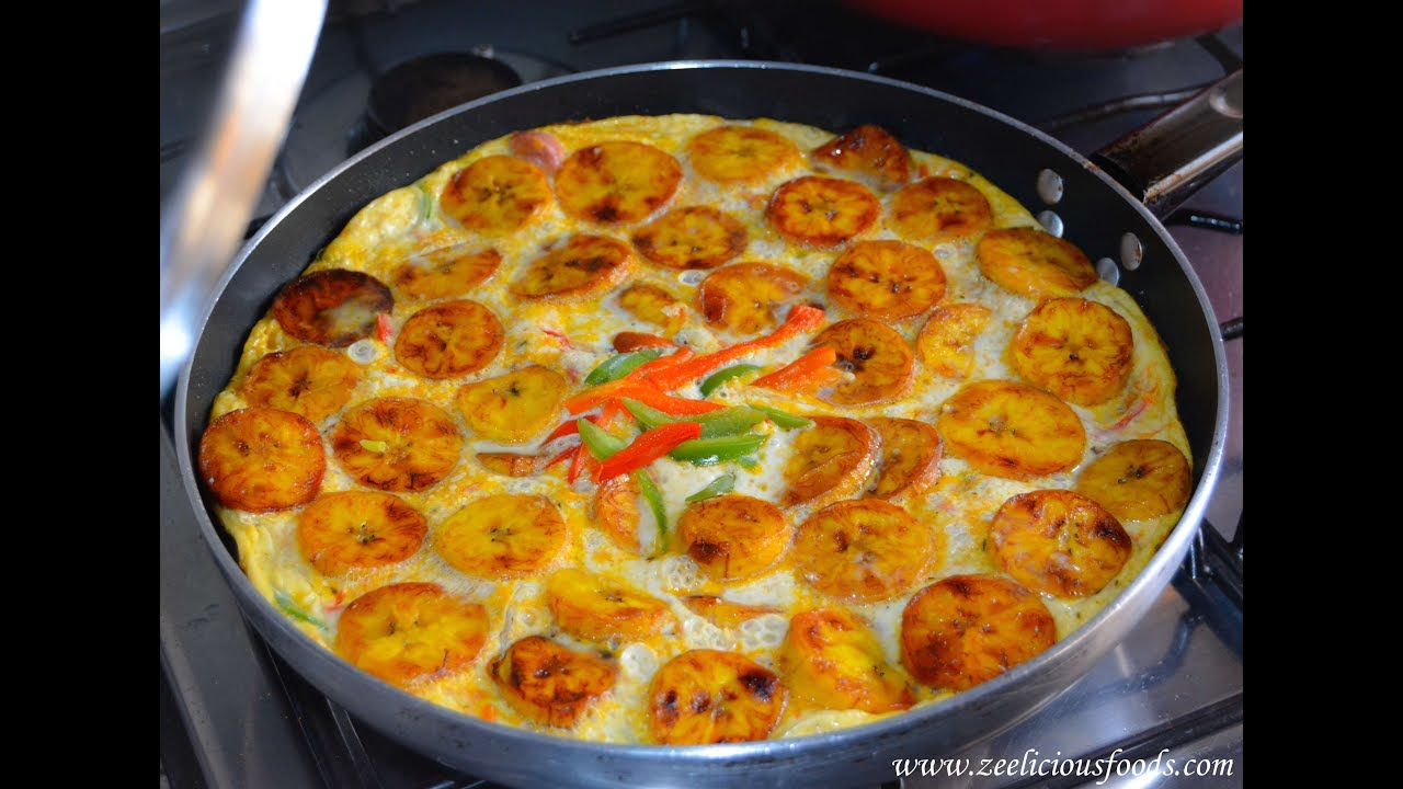 How To Make Plantain And Egg Frittata Zeelicious Foods Youtube