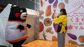 くまモン、ハンドボールパス10回成功でマルシェの好きな商品買ってもらうモン!@二子玉川2019/11/17