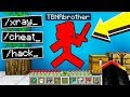 TROLLING MY LITTLE BROTHER with MINECRAFT HACKS!