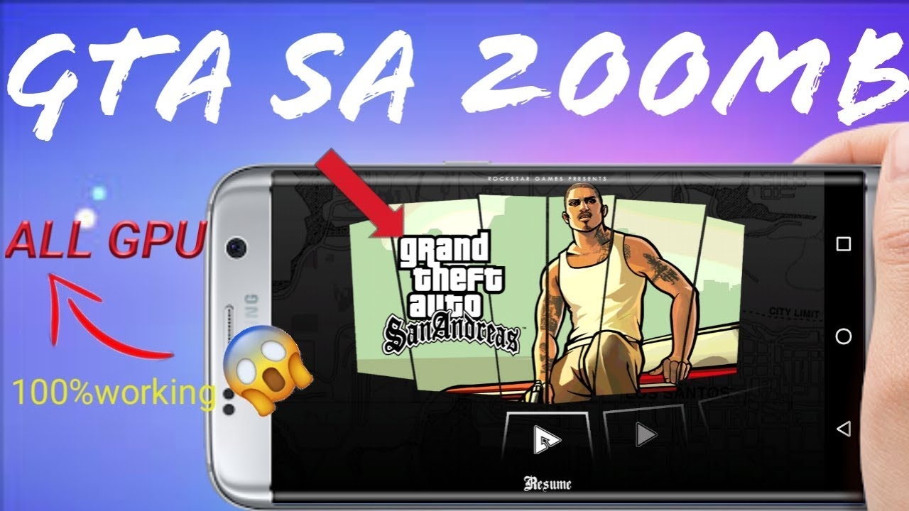 GTA SA 200MB DOWNLOAD ALL GPU SUPPORTED| APK+OBB| IN HINDI|  #Smartphone #Android