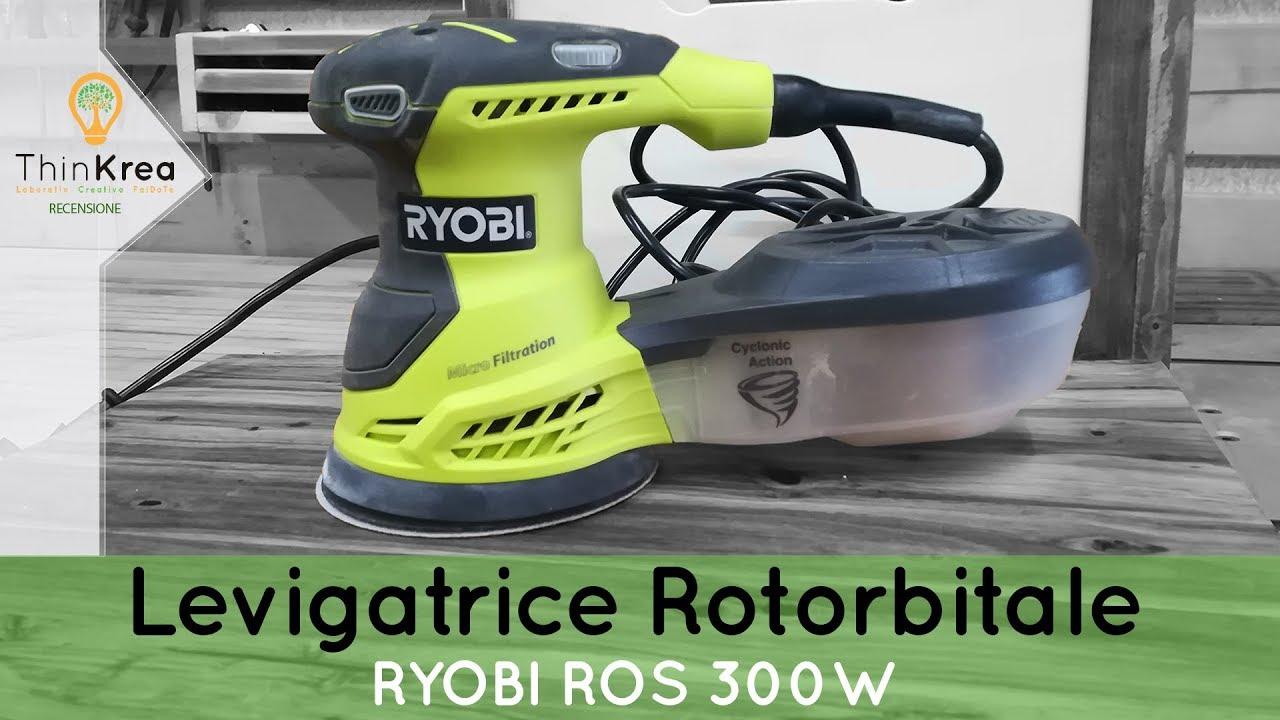 ryobi levigatrice  Levigatrice rotorbitale RYOBI ROS 300W - 2 Parole - YouTube