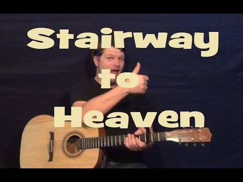 Stairway to Heaven (Led Zeppelin) Guitar Lesson Easy Strum Chords Licks TAB How to Play Tutorial
