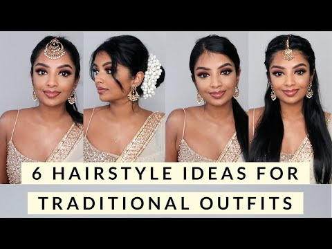6 Hairstyle Ideas for Traditional Indian/Tamil Wedding Outfit | Saree & Lehnga hairstyles | Nivii06