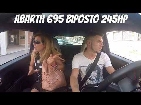 My mother's reaction with hardbang Abarth 695 Biposto 245HP