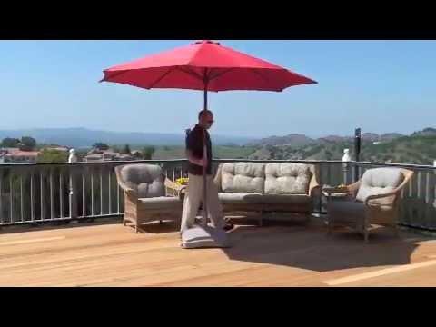 Shade Mobile Rolling Patio Umbrella Base By Shade Usa Com Youtube