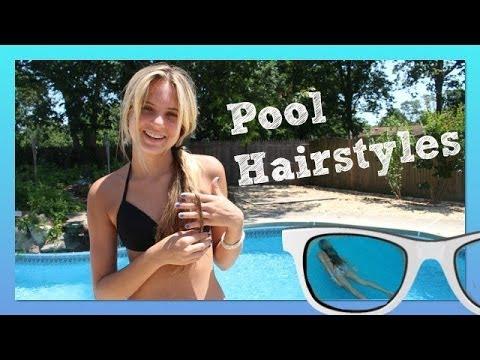 pool hairstyles beach