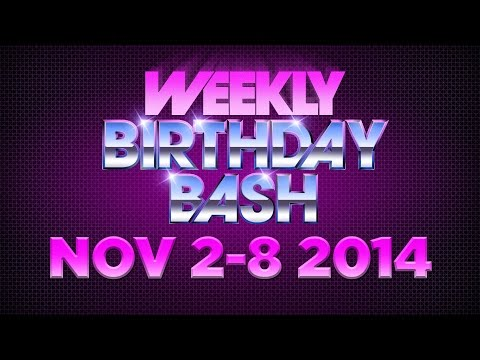 Celebrity Actor Birthdays - November 2-8, 2014 HD