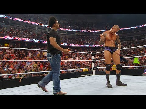 Randy Orton RKOs Wade Barrett, Darren Young, Edge and Sheamus: Raw, Sept. 6, 2010 WWE Network