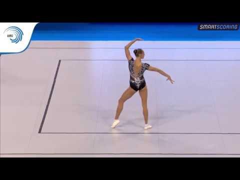 Polina AMOSENOK (RUS) - 2017 Aerobics Europeans, individual women final