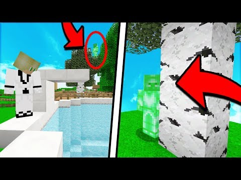 SCARING PEOPLE ON MY SERVER WITH FAKE GREEN STEVE! (Minecraft Trolling)