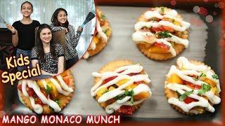 Mango Monaco Munch - Quick & Easy Snack Recipe - Kids Special Recipe - Ruchi Bharani