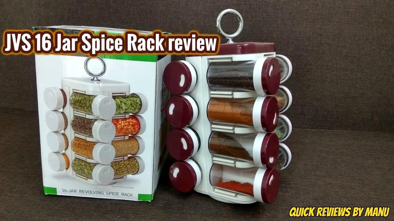 373e344b1418 JVS 16 Plastic Jar Spice / Masala Rack review