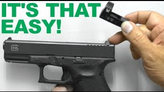 It's THAT Easy!!!  Replacing Rear Sight with Red Dot Sight Mount - Vortex Venom installed on Glock