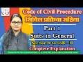 CPC, Suits in General, Sec 9 - 35B, Part 2 for RJS, DJS, State Judicial Services, Urmila Rathi, SULC