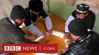 Наманган холваси қандай тайёрланади? Ўзбек қандолатчилик удуми давом этмоқда - BBC Uzbek