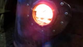 Печь буржуйка на опилках длительного горения из бочки 200 л  розжиг без дыма,