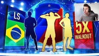 5x WALKOUT! NAGRODY ZA ELITĘ W FUT CHAMPIONS + PACZKI UCL! POTĘŻNE TRAFY! | FIFA 19
