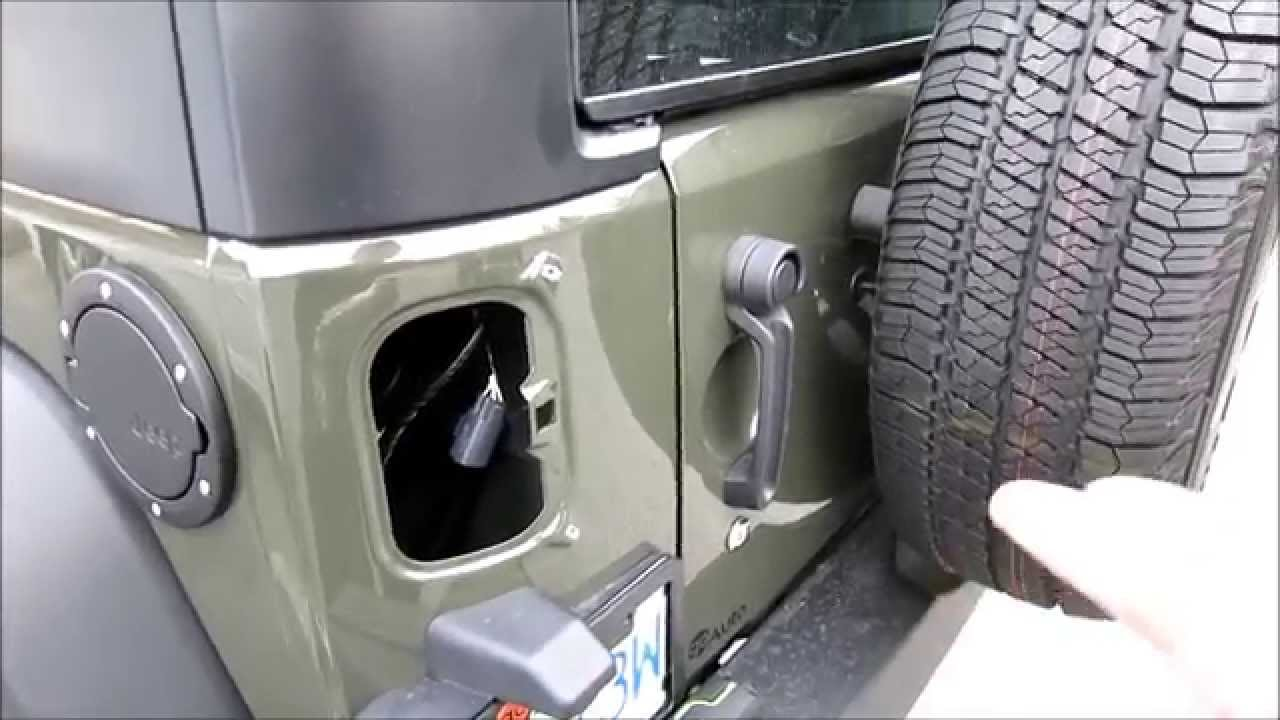 How To Install A Gas Cap Door On A Jeep Wrangler Jk 2015