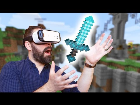Minecraft Skywars in Virtual Reality! - Super Immersive PvP Battles!