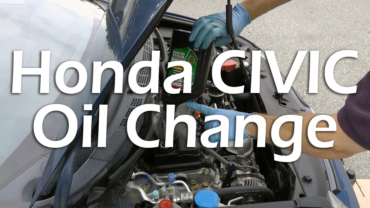honda civic 2006 2011 oil change full tutorial  [ 1280 x 720 Pixel ]