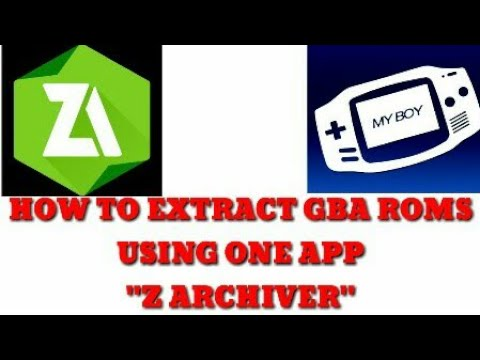 How To Extract GBA Roms To Zip Files Using One App (Z Archiver) Easy Steps You Can Try
