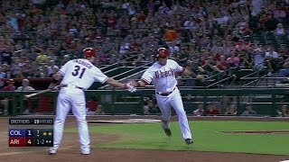 COL@ARI: After an RBI triple, Peralta steals home