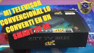 INSTALACIÓN OTT TV BOX 4K ULTRA HD