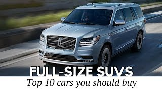 10 Best Full-Size SUVs with the Most Interior Space