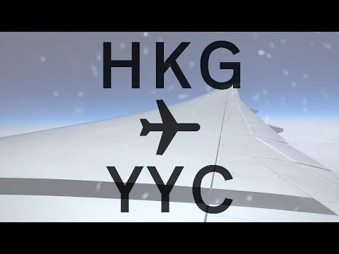 Air Canada Trip Report | Economy | Hong Kong To Calgary ✈ FHD 60FPS
