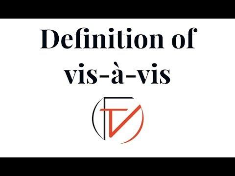 Definition of vis-à-vis
