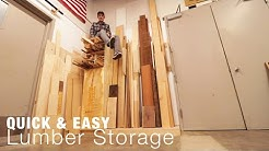 Quick & Easy Lumber Rack and Scrap Wood Organization System